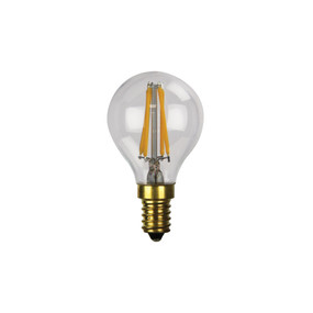 E14 LED Filament Globe - 2W 200lm E14 4000K 70mm Clear Dimmable