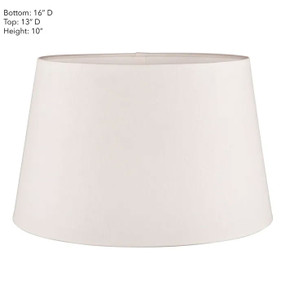 Lampshade - 16x14x10 Textured Ivory Linen