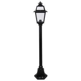 Post Light or Bollard Light - 240V B22 IP43 1300mm Black Made In Italy