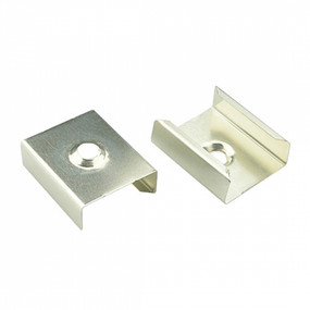 Surface Mount Clip - Aluminium 25mm with Cable Channel TB