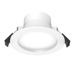 LED Downlight - Dimmable 10W 870lm IP40 Tri Color 115mm White Low Profile