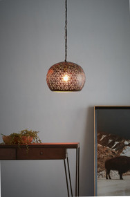 Pendant Light - E27 350mm Matte Bronze