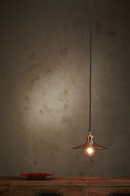 Pendant Light - E27 250mm Antique Copper FRB