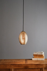 Pendant Light - E27 150mm Metallic Nickel STL