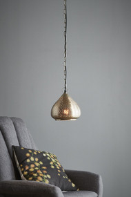 Pendant Light - E27 200mm Metallic Nickel