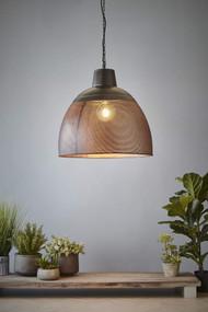 Pendant Light - E27 600mm Matte Black and Gold
