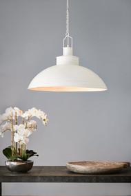 Pendant Light - E27 740mm Metallic White