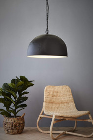 Pendant Light - E27 460mm Matte Black and White