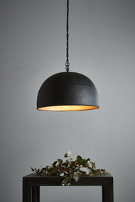Pendant Light - E27 460mm Matte Black and Gold