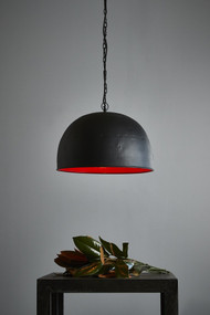 Pendant Light - E27 460mm Matte Black and Red