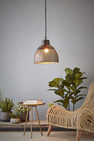 Pendant Light - E27 340mm Matte Black and Gold