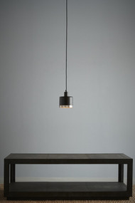 Pendant Light - E27 150mm Matte Black and Nickel