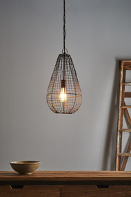 Pendant Light - E27 250mm Antique Copper CPS