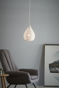 Pendant Light - E27 220mm Matte White
