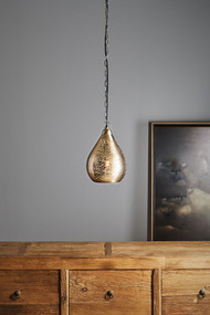 Pendant Light - E27 220mm Metallic Nickel