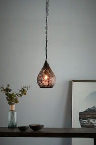 Pendant Light - E27 220mm Matte Black