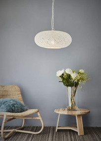 Pendant Light - E27 420mm Matte White