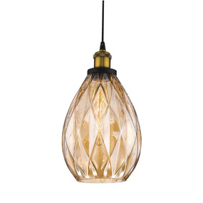 Pendant Light - 60W E27 190mm Amber