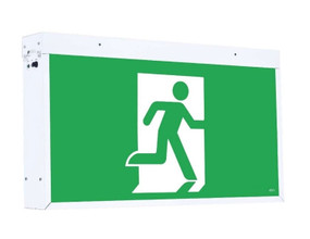 Emergency Exit Sign Extra Large - Industrial Strength LED 6W 48m Surface Mounted 2 Hours Green