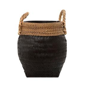 Basket - Black with Weave 46cm