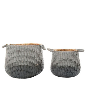 Baskets - Set of Two Black and Grey