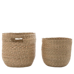 Baskets - Set of Two Natural 30cm