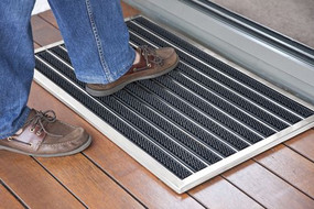 Door Mat - Brushed Stainless Steel