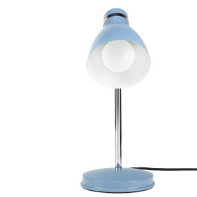 Akvo Desk Lamp - Adjustable Classic Look E27 28W Satin Blue