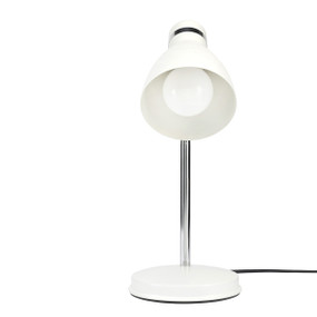 Desk Lamp - Adjustable Classic Look E27 28W Matt White