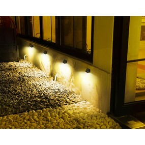 Solar Wall Light With Motion Sensor - 10W 1000lm IP65 4000K Black Commercial Grade