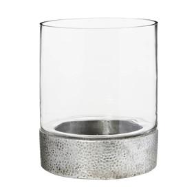 Candleholder - Silver 24cm