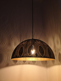 Pendant Light - 72W E27 400mm Black and Gold