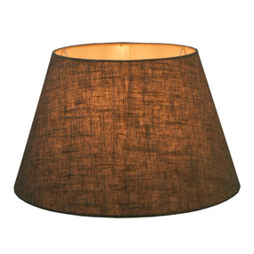 Lamp Shade - 18x13x10 Dark Natural Linen
