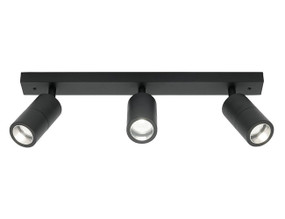 Ceiling Spotlight - Elegant 3 Light Rail Marine Grade IP44 Black