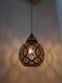 Pendant Light - 72W E27 300mm Bell Black and Gold