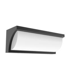 Wall Light - 13W 910lm IP65 3000K 230mm Grey