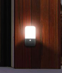 Wall Light With Sensor - 11W 840lm IP54 3000K 222mm Dark Grey