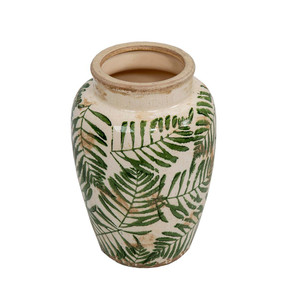 Vase With Green Design