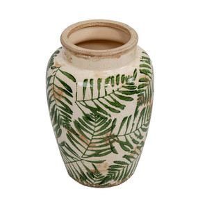 Vase With Green Pattern
