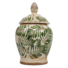Jar With Green Pattern