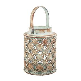 Candle Lantern - Distressed 18cm