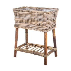 Basket With Legs - Natural 50cm