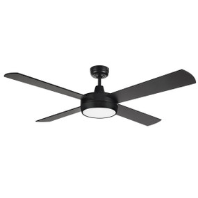 Ceiling Fan With Light - 132cm 52in 50W Tri Colour Black 3 Speed