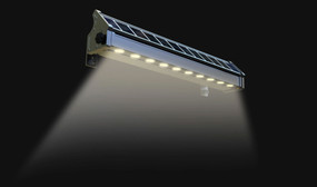 Solar Wall Light or Ground Light - 2W 270lm IP65 3000K 517mm Silver