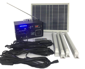 Solar Portable Lights With Radio - Remote Control 12V 10W IP65 215mm