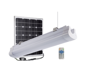 Solar Batten Light with Remote  and Sensor - 3000lm IP67 IK10 Dual Colour 900mm Vandal Resistant