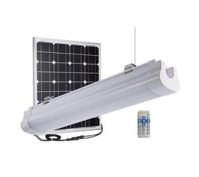 Solar Batten Light with Remote  and Sensor - 3000lm IP67 IK10 Dual Colour 900mm Vandal Resistant