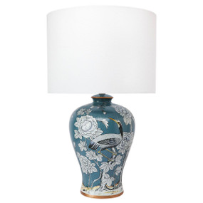 Table Lamp - B22 40W 680mm Blue and White Pattern