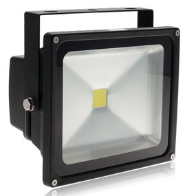 Solar Flood Light - 50W 5000lm IP67 4000K 385mm Black Commercial Grade