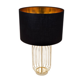 Table Lamp - B22 40W 615mm Black and Gold